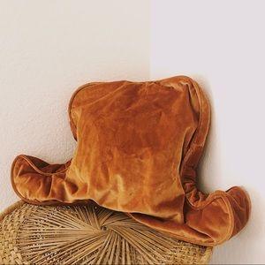 1970s Burnt Orange Backrest Pillow